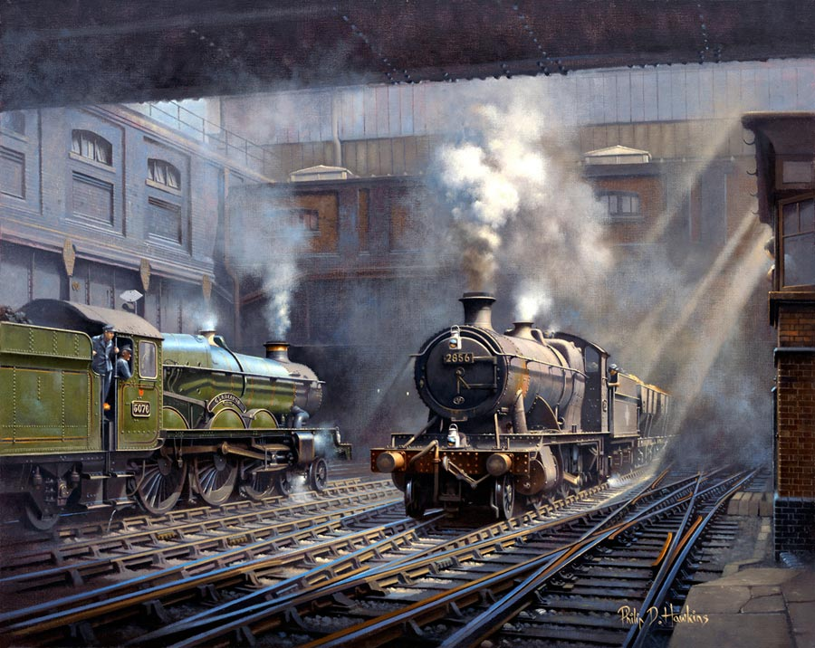 Painting: Sunlight and Steam at Snow Hill